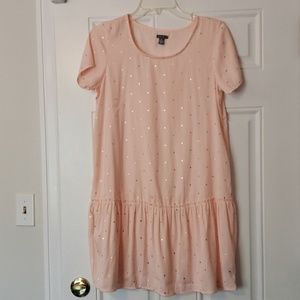 Aerie Intimates Blush Pink and Gold Star Tunic